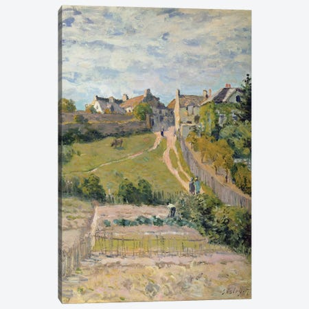 The Climbing Path, 1875  3-Piece Canvas #BMN8852} by Alfred Sisley Canvas Art Print
