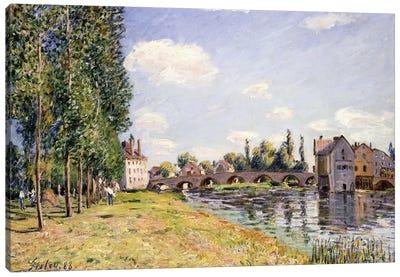The Moret Bridge in the summer, 1888  Canvas Art Print