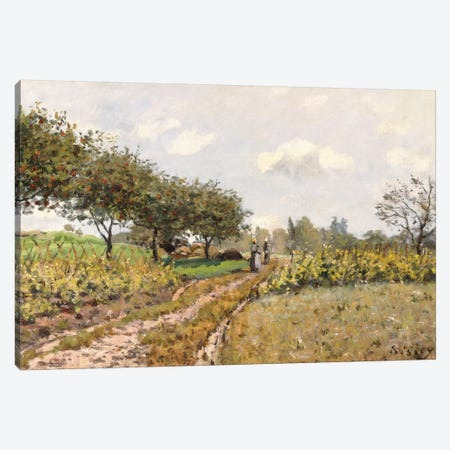 The Road in the Countryside, 1876  Canvas Print #BMN8855} by Alfred Sisley Canvas Artwork