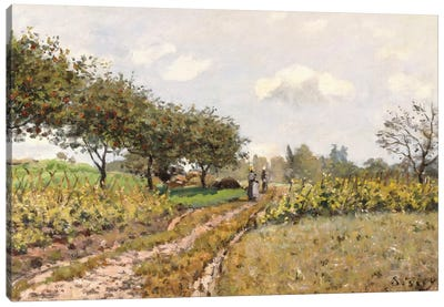 The Road in the Countryside, 1876  Canvas Art Print
