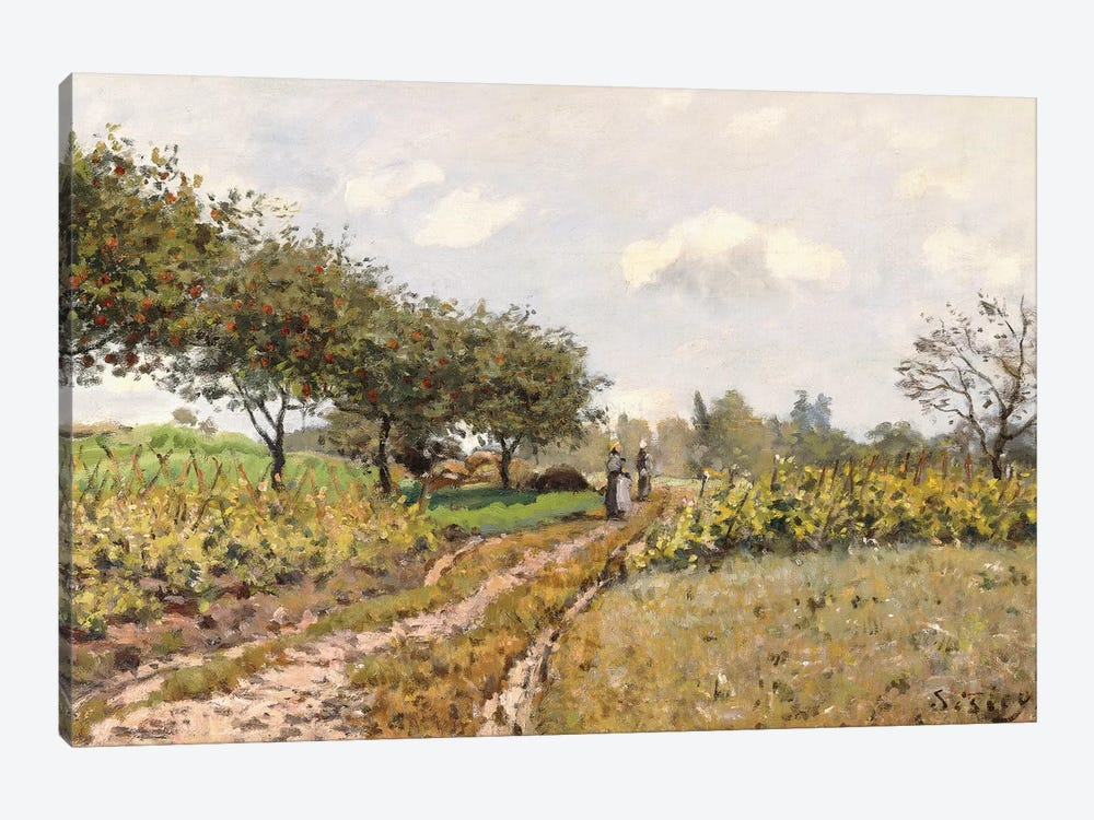 The Road in the Countryside, 1876  by Alfred Sisley 1-piece Canvas Art Print