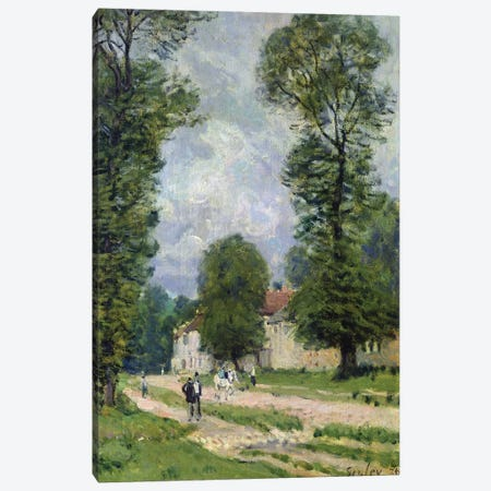 The Road to Marly-le-Roi, or The Road to Versailles, 1875  Canvas Print #BMN8856} by Alfred Sisley Canvas Wall Art