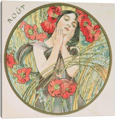 August, 1899   Canvas Art Print