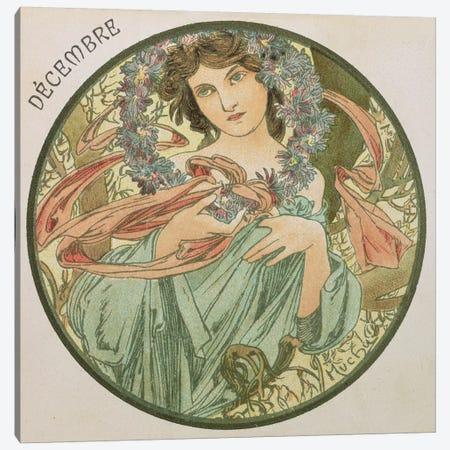 December, 1899   Canvas Print #BMN8864} by Alphonse Mucha Canvas Print