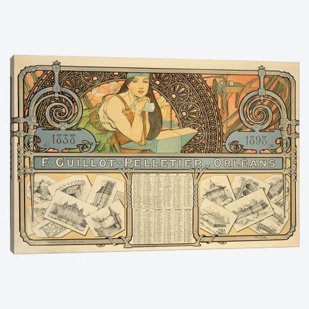 F. Guillot Pelletier Calendar, 1897  Canvas Print #BMN8865} by Alphonse Mucha Canvas Print
