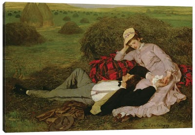 The Lovers, 1870  Canvas Art Print