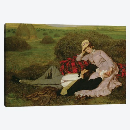 The Lovers, 1870  Canvas Print #BMN886} by Pal Szinyei Merse Art Print