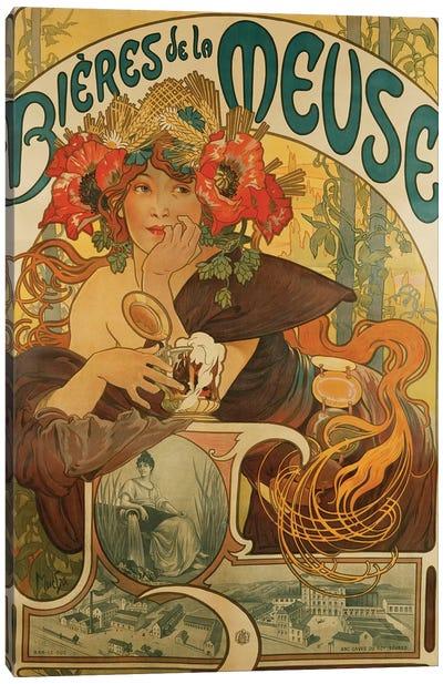 Bieres de La Meuse, 1897  Canvas Art Print