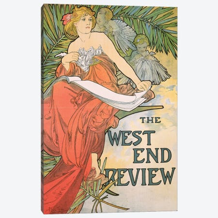 The West End Review', 1898  Canvas Print #BMN8887} by Alphonse Mucha Canvas Print