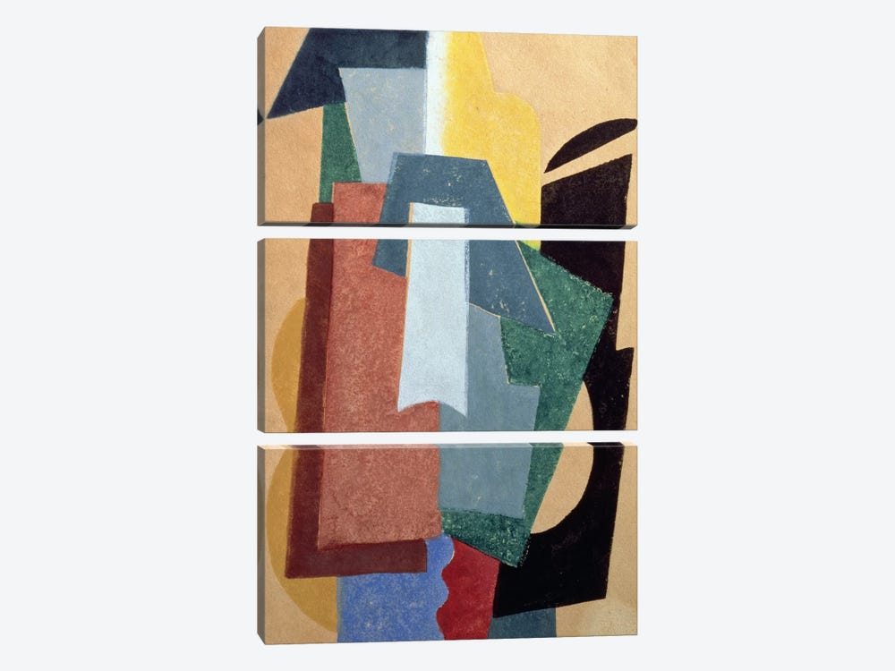 Summer, 1917-18 (oil on canvas) by Lyubov Popova 3-piece Canvas Art