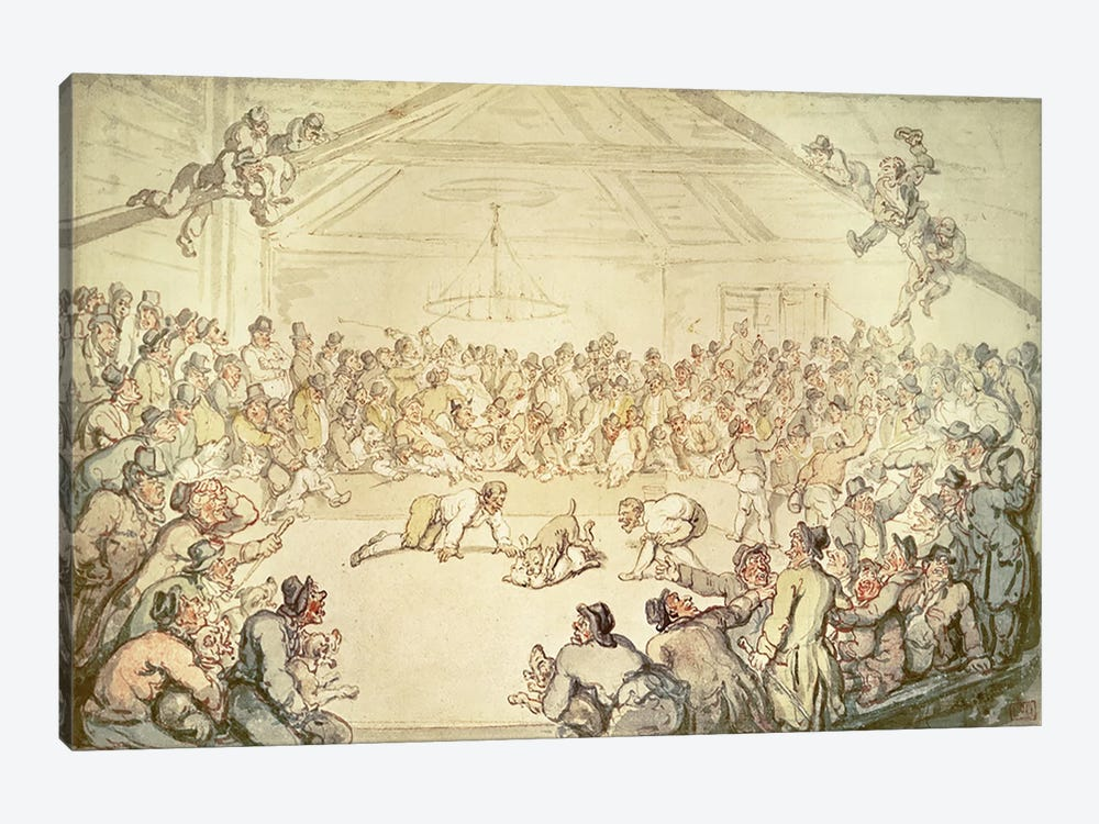 The Dog Fight by Thomas Rowlandson 1-piece Canvas Artwork