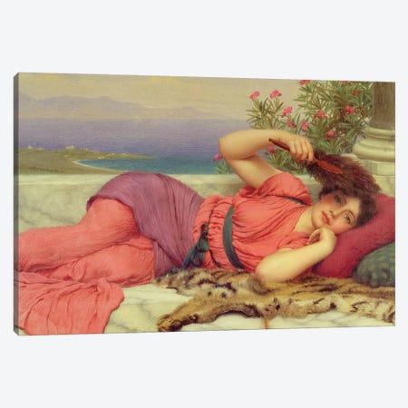 Noon-Day Rest,1910  Canvas Print #BMN892} by John William Godward Art Print