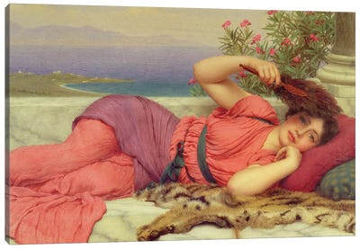 Noon-Day Rest,1910  Canvas Art Print