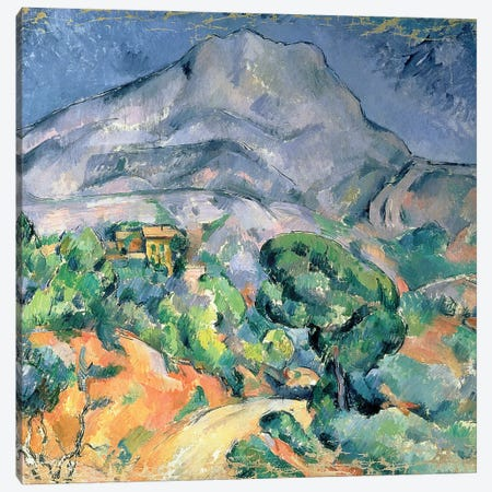 Mont Sainte-Victoire, 1900  Canvas Print #BMN893} by Paul Cezanne Canvas Art Print