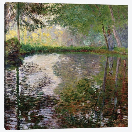 The Lake at Montgeron Canvas Print #BMN894} by Claude Monet Canvas Wall Art