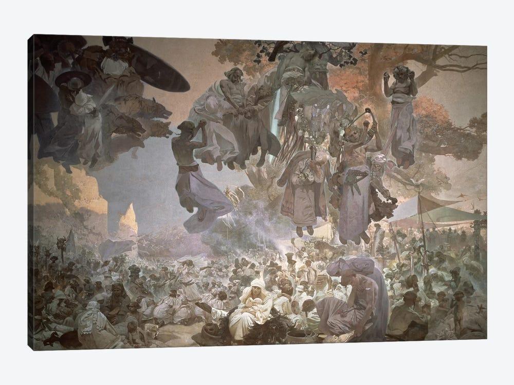 Svantovit Festival on the Island of Rugen, from the 'Slav Epic', 1912  by Alphonse Mucha 1-piece Canvas Print