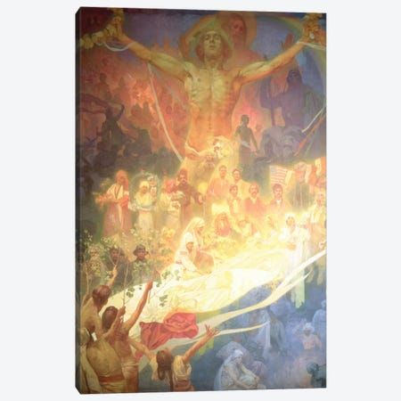 The Apotheosis of the Slavs, from the 'Slav Epic', 1926  Canvas Print #BMN8955} by Alphonse Mucha Canvas Art Print