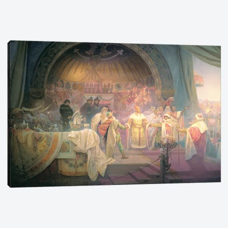 The Bohemian King Premysl Otakar II , from the 'Slav Epic', 1924  Canvas Print #BMN8956} by Alphonse Mucha Canvas Art Print