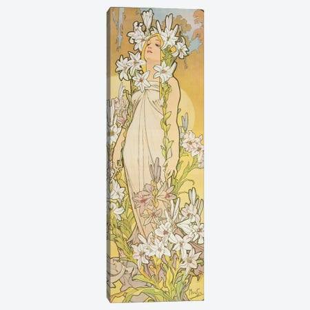 The Flowers: Lily, 1898  Canvas Print #BMN8959} by Alphonse Mucha Canvas Wall Art
