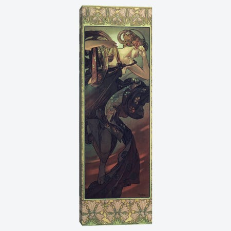 The Moon and the Stars: Evening Star, 1902  Canvas Print #BMN8965} by Alphonse Mucha Canvas Art