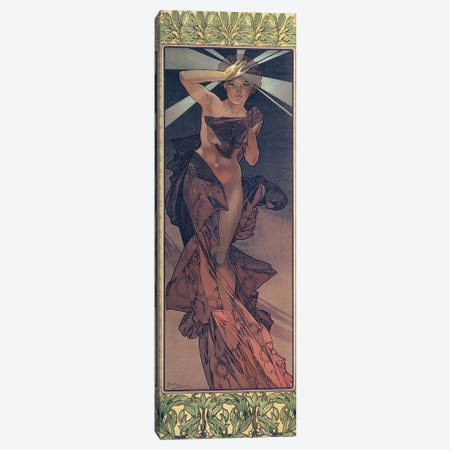 The Moon and the Stars: Morning Star, 1902  Canvas Print #BMN8966} by Alphonse Mucha Canvas Wall Art