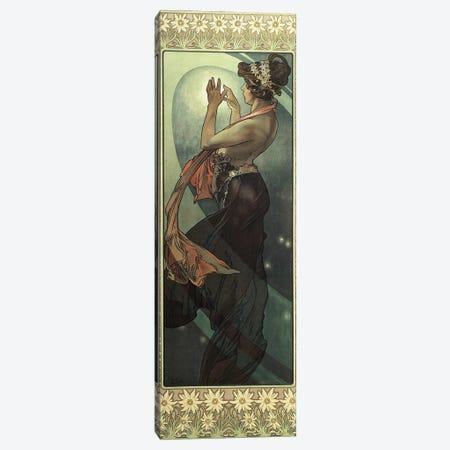 The Moon and the Stars: Pole Star, 1902  Canvas Print #BMN8967} by Alphonse Mucha Canvas Wall Art