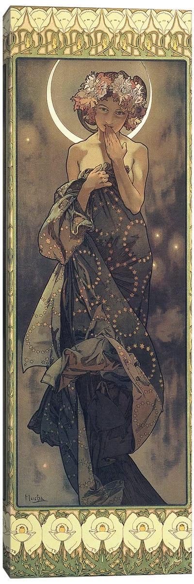 The Moon and the Stars: The Moon, 1902  Canvas Art Print