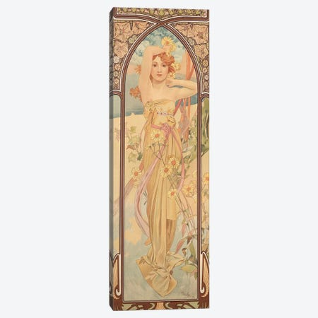 The Times of the Day: Brightness of Day, 1899  Canvas Print #BMN8971} by Alphonse Mucha Canvas Artwork