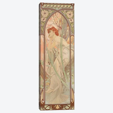 The Times of the Day: Evening Contemplation, 1899  Canvas Print #BMN8973} by Alphonse Mucha Canvas Wall Art