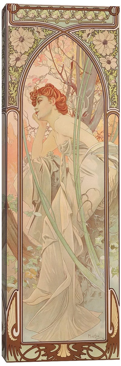 The Times of the Day: Evening Contemplation, 1899  Canvas Art Print