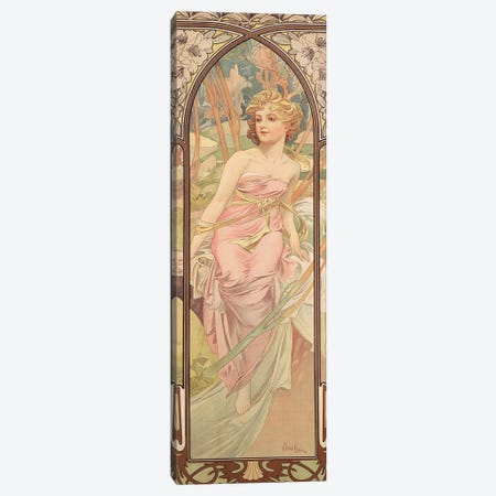 The Times of the Day: Morning Awakening, 1899  Canvas Print #BMN8974} by Alphonse Mucha Art Print