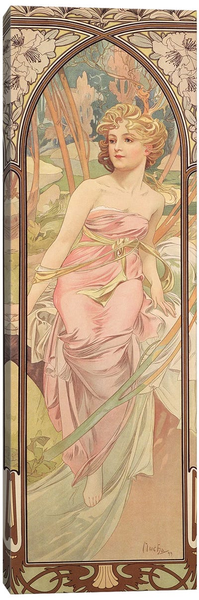 The Times of the Day: Morning Awakening, 1899  Canvas Art Print