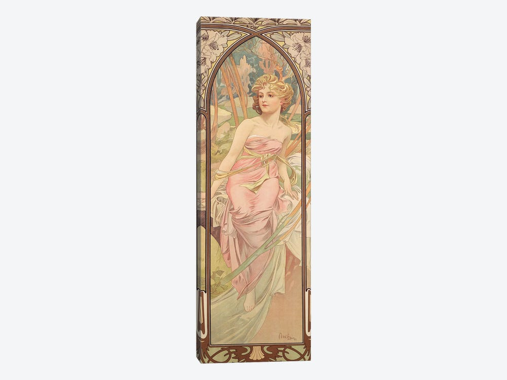 The Times of the Day: Morning Awakening, 1899  by Alphonse Mucha 1-piece Canvas Print