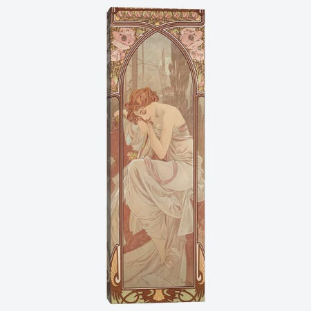 The Times of the Day: Night's Rest, 1899  Canvas Print #BMN8975} by Alphonse Mucha Canvas Art Print