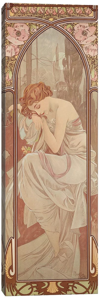 The Times of the Day: Night's Rest, 1899  Canvas Art Print