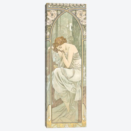 The Times of the Day Canvas Print #BMN8976} by Alphonse Mucha Art Print