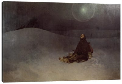 Woman in the Wilderness, 1923  Canvas Art Print