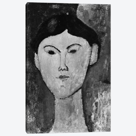 Beatrice Hastings  c.1914-15   Canvas Print #BMN8984} by Amedeo Modigliani Canvas Artwork