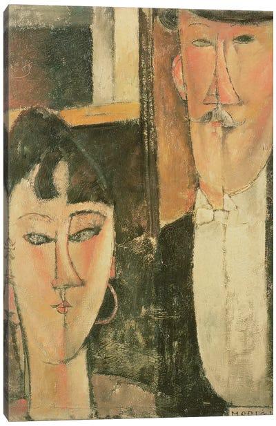 Bride and Groom , 1915-16 Canvas Art Print