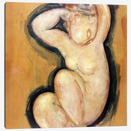 Caryatid, c.1913-14  Canvas Print #BMN8986} by Amedeo Modigliani Canvas Art
