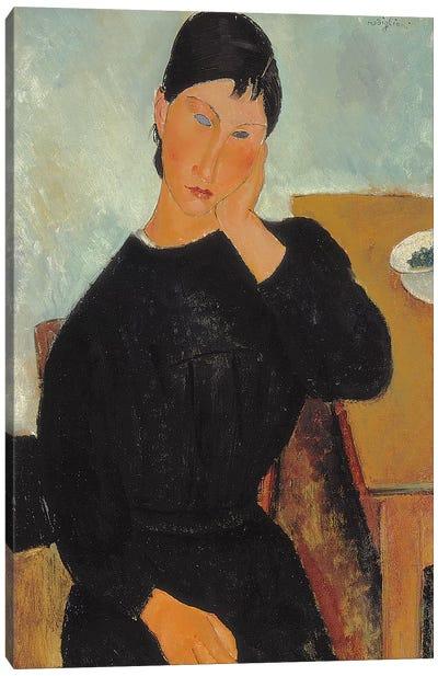 Elvira Resting at a Table, 1919  Canvas Art Print
