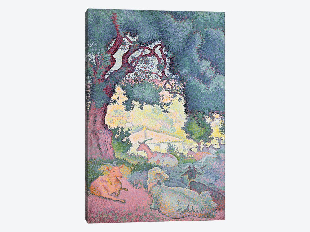 Landscape with Goats, 1895 by Henri-Edmond Cross 1-piece Canvas Print