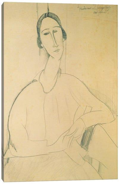 Hanka Zborowska, c.1917  Canvas Art Print