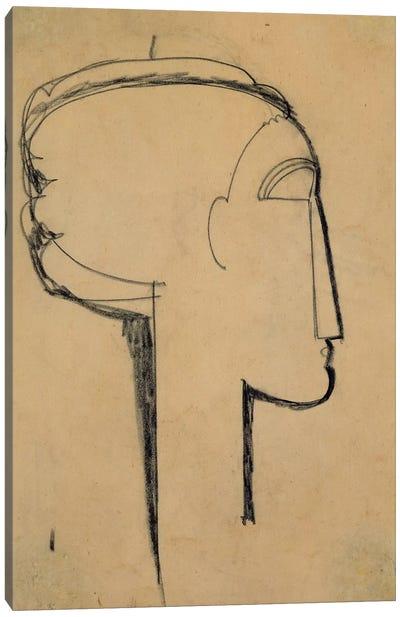 Head in Profile  Canvas Art Print
