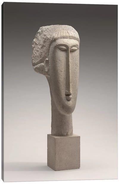 Head of a Woman, c.1910-1911  Canvas Art Print
