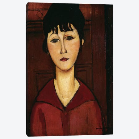 Head of a Young Girl, 1916  Canvas Print #BMN8996} by Amedeo Modigliani Canvas Art Print