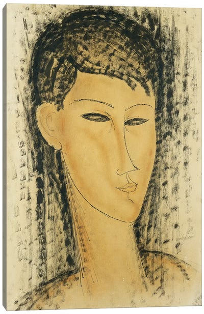 Head of a Young Women Canvas Art Print