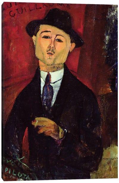 Paul Guillaume  Novo Pilota, 1915  Canvas Art Print