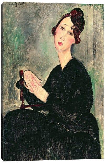 Portrait of a Young Woman  c.1916  Canvas Art Print
