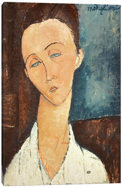Portrait of Lunia Czechowska, 1918  Canvas Art Print